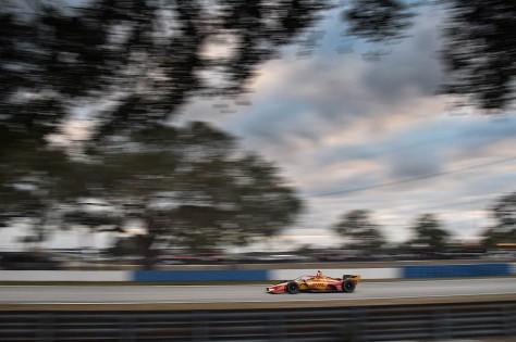 Ryan Hunter-Reay, No. 28 Honda de Andretti Autosport, en la tercera ronda de pruebas privadas de pretemporada de IndyCar, realizada el 1 de febrero en Sebring (FOTO: Chris Owens/INDYCAR)