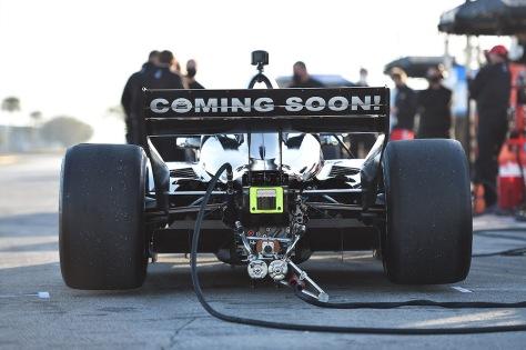 Jimmie Johnson, No. 48 Honda de Chip Ganassi Racing, en la primera ronda de pruebas de pretemporada de IndyCar, realizada el 18 de enero en Sebring (FOTO: Chris Owens/IndyCar)