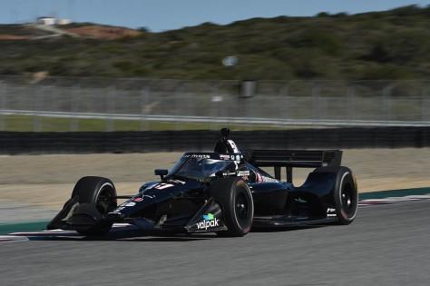 Romain Grosjean, No. 51 Honda de Dale Coyne/Rick Ware, en la quinta ronda de pruebas privadas de pretemporada de IndyCar, realizada el 1 de marzo en Laguna Seca (FOTO: Chris Owens/INDYCAR)