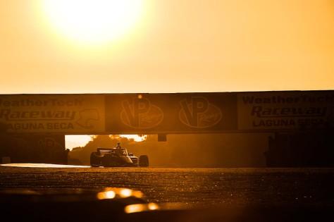 Jack Harvey, No. 60 Honda de Meyer Shank Racing, en la quinta ronda de pruebas privadas de pretemporada de IndyCar, realizada el 1 de marzo en Laguna Seca (FOTO: Chris Owens/INDYCAR)