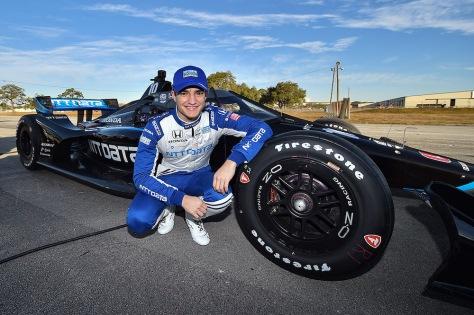 Álex Palou, No. 10 Honda de Chip Ganassi Racing, en la primera ronda de pruebas de pretemporada de IndyCar, realizada el 18 de enero en Sebring (FOTO: Chris Owens/IndyCar)