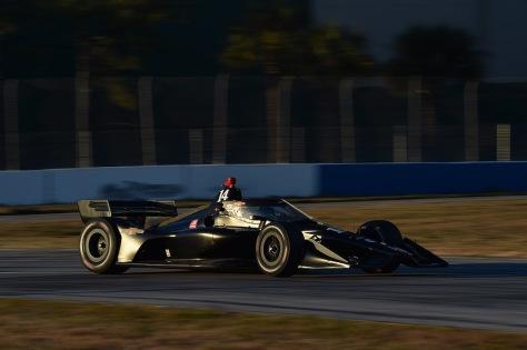 Sébastien Bourdais, No. 14 Chevrolet de AJ Foyt Racing, en la primera ronda de pruebas de pretemporada de IndyCar, realizada el 18 de enero en Sebring (FOTO: Chris Owens/IndyCar)