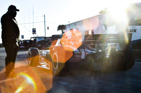 Takuma Sato, No. 30 Honda de Rahal Letterman Lanigan Racing, en la primera ronda de pruebas privadas de pretemporada de IndyCar, realizada el 19 de enero en Sebring (FOTO: Chris Owens/INDYCAR)