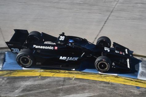 Takuma Sato, No. 30 Honda de Rahal Letterman Lanigan Racing, en la segunda ronda de pruebas privadas de pretemporada de IndyCar, realizada el 19 de enero en Sebring (FOTO: Chris Owens/INDYCAR)