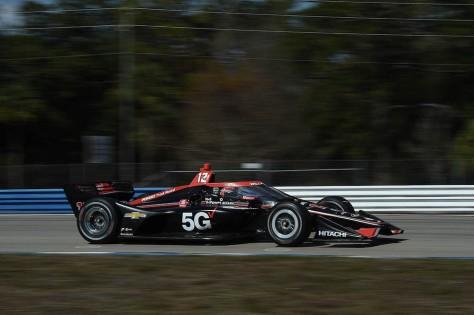 Will Power, No. 12 Chevrolet de Team Penske, en la tercera ronda de pruebas privadas de pretemporada de IndyCar, realizada el 1 de febrero en Sebring (FOTO: Chris Owens/INDYCAR)
