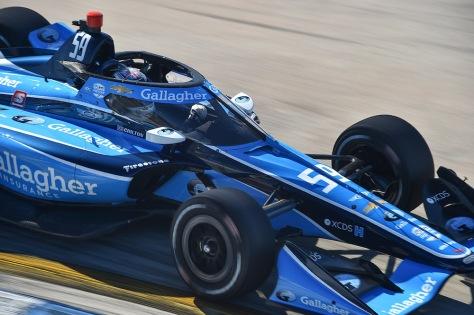 Max Chilton, No. 59 Chevrolet de Carlin, en la segunda ronda de pruebas privadas de pretemporada de IndyCar, realizada el 19 de enero en Sebring (FOTO: Chris Owens/INDYCAR)