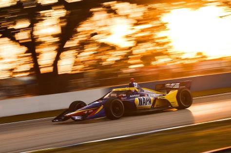 Alexander Rossi, No. 27 Honda de Andretti Autosport, en la segunda ronda de pruebas privadas de pretemporada de IndyCar, realizada el 19 de enero en Sebring (FOTO: Chris Owens/INDYCAR)