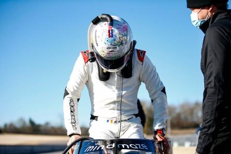 Romain Grosjean, No. 51 Honda de Dale Coyne/Rick Ware, en la cuarta ronda de pruebas privadas de pretemporada de IndyCar, realizada el 23 de febrero en Barber (FOTO: Joe Skibinski/INDYCAR)