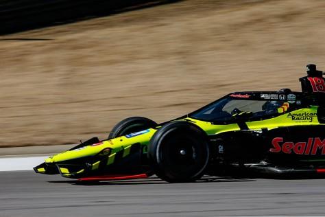 Ed Jones, No. 18 Honda de Dale Coyne w/Vasser Sullivan, en la cuarta ronda de pruebas privadas de pretemporada de IndyCar, realizada el 23 de febrero en Barber (FOTO: Joe Skibinski/INDYCAR)