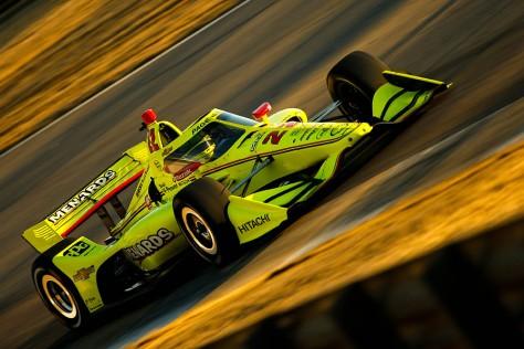 Simon Pagenaud, No. 22 Chevrolet de Team Penske, en la cuarta ronda de pruebas privadas de pretemporada de IndyCar, realizada el 23 de febrero en Barber (FOTO: Joe Skibinski/INDYCAR)