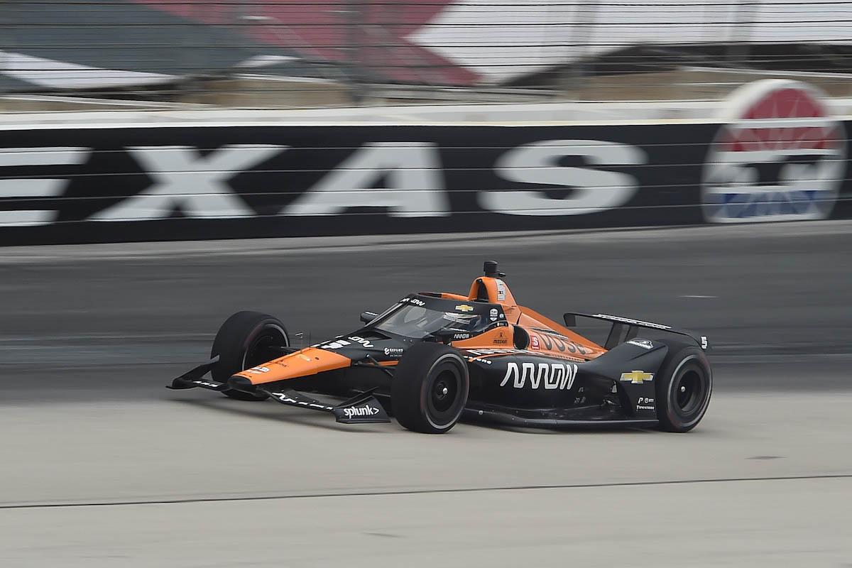 O'Ward fue el más rápido en pruebas privadas en marzo en Texas (FOTO: Chris Owens/INDYCAR)