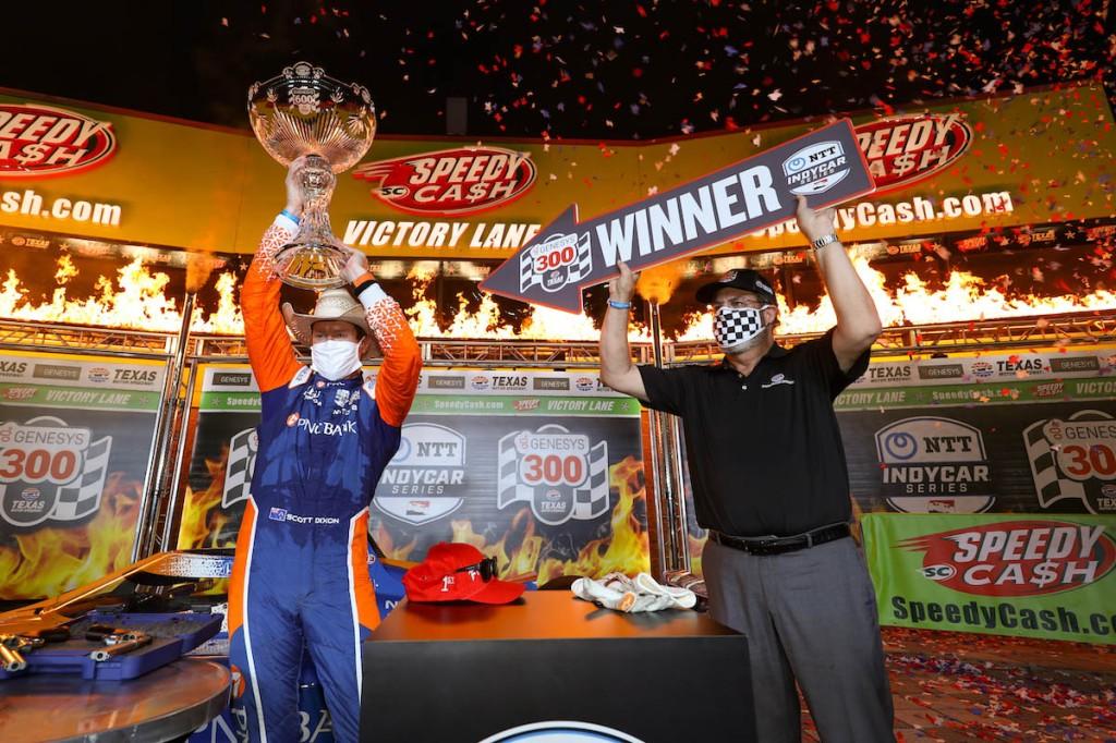 Dixon es uno de los piloto que ha ganado cuatro veces en Texas (FOTO: Chris Owens/INDYCAR)