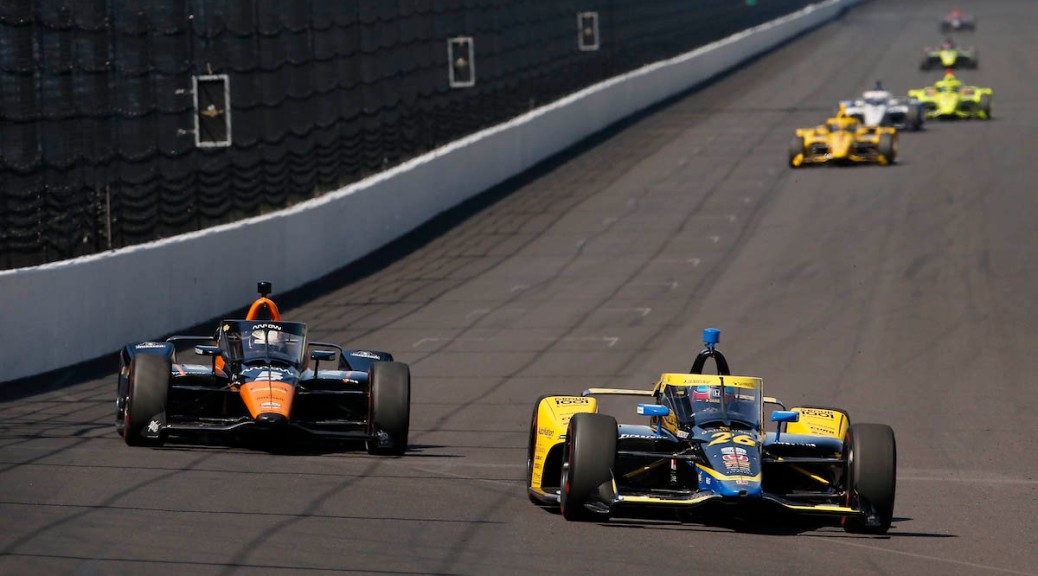 Colton Herta y Pato O'Ward en Indy (FOTO: Chris Jones/INDYCAR)
