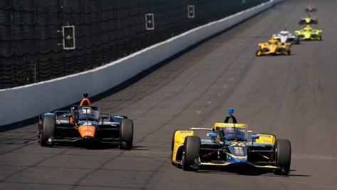 Colton Herta y Pato O'Ward en Indy (FOTO: Chris Jones/INDYCAR)