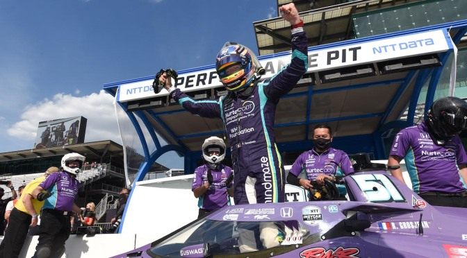 Romain Grosjean logra primera pole position en IndyCar