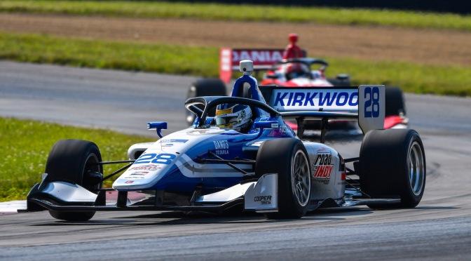 Kirkwood dominó fecha doble de Indy Lights en Mid-Ohio