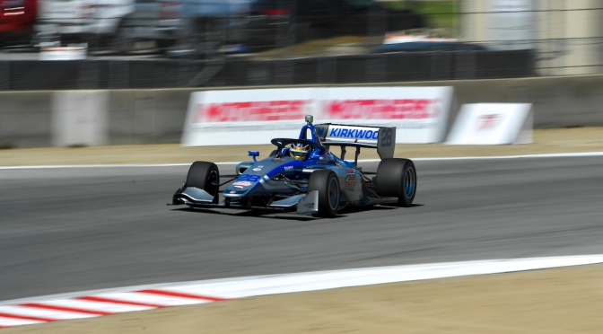 Kirkwood gana Carrera 1 en Laguna y retoma liderato en Indy Lights