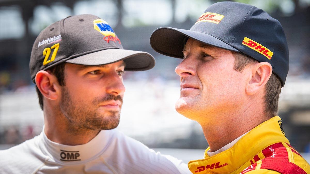 Rossi y Hunter-Reay (FOTO: Karl Zemlin/INDYCAR/PEC)