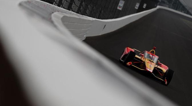 Lluvia acorta primer test de Johnson y Grosjean en Indy