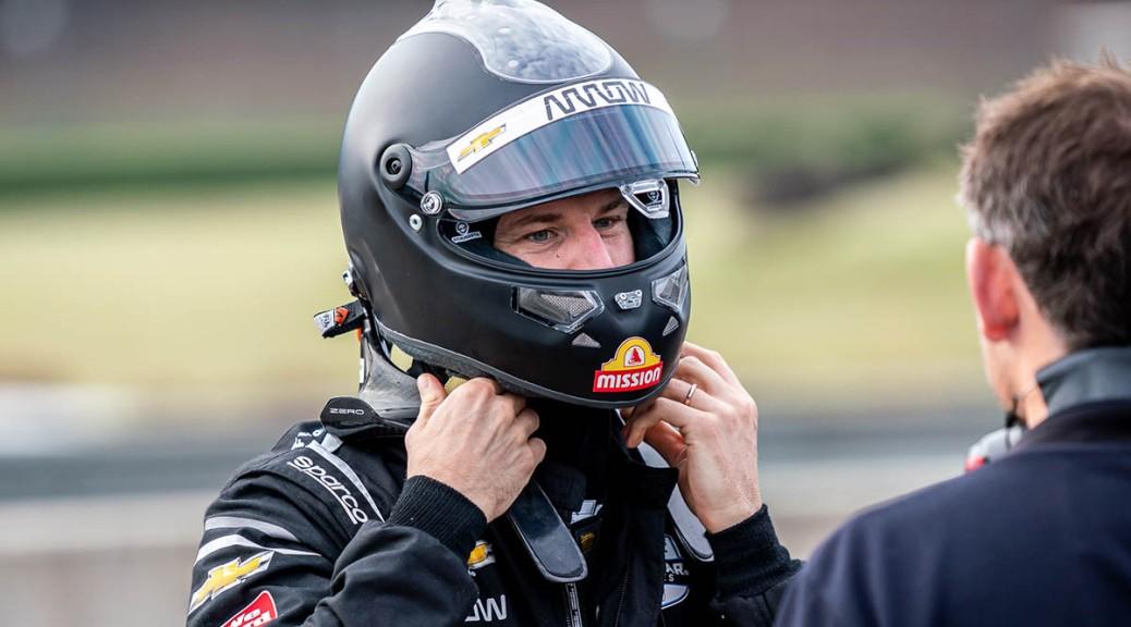 Nico Hulkenberg manejó el No. 7 de ARROW McLaren SP en Alabama, en su primera prueba con un IndyCar (FOTO: INDYCAR/PEC)